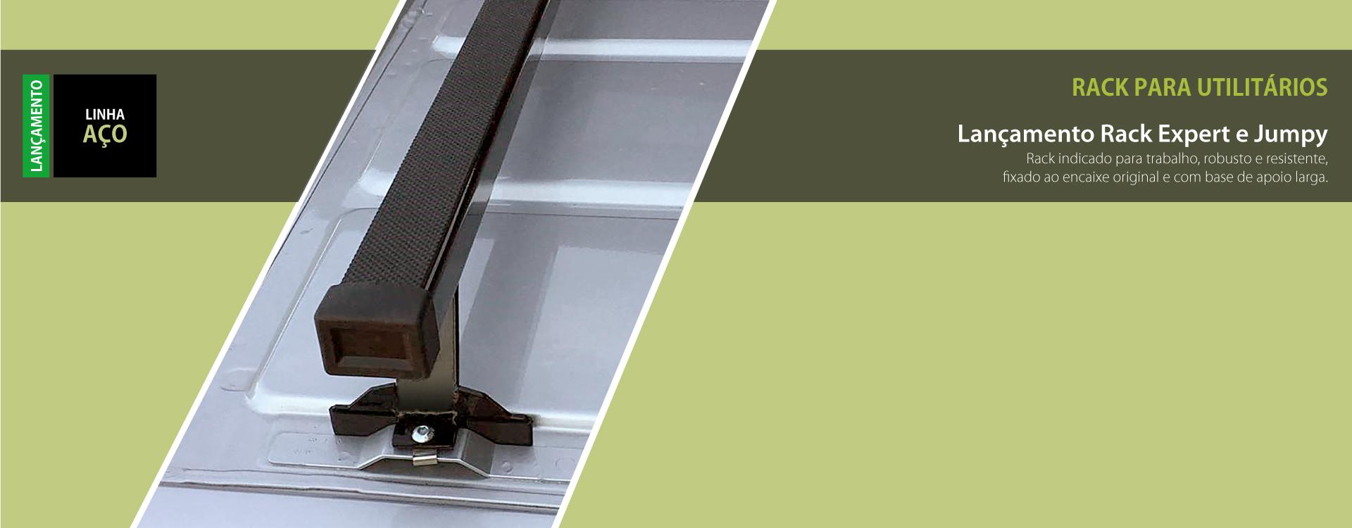 Novo rack para utilitários. lançamento rack expert e jumpy. Esse rack é indicado para trabalho, robusto e resistente, fixado ao encaixe original e com base de apoio large.